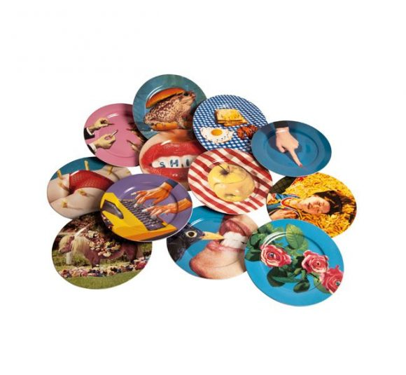 Seletti Porcelain Plate Chips Style Temple