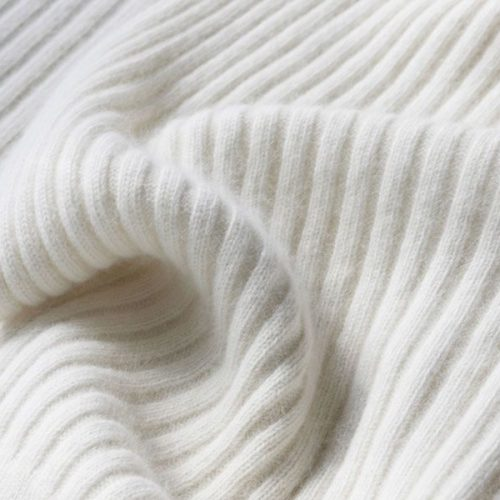 Angora Wide Rib Blanket in Natural colour
