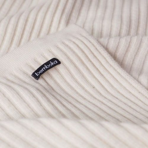 Angora Wide Rib Throw and Blanket in Natural colour