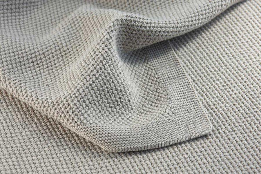Knitting Blanket Moss Stitch : Moss Stitch Framed Bemboka Cotton Blanket - Style Temple