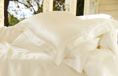 Silk Magnolia Ivory King Pillow Case Style Temple