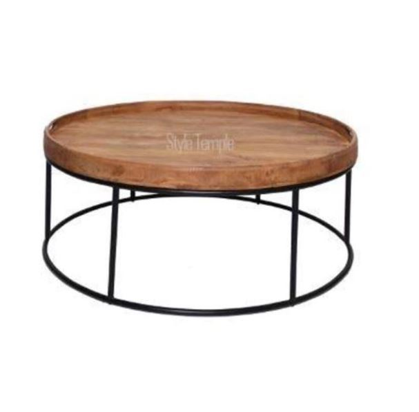 Berlin Round Coffee Table Small Large Style Temple